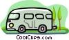 Vector Clipart picture  of a van