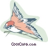 Vector Clip Art picture  of a sparrow bird