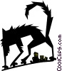 Vector Clip Art graphic  of a street cat