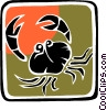 Vector Clipart illustration  of a crab