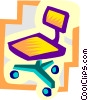 Vector Clip Art graphic  of a chair