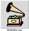 Vector Clipart graphic  of a ionized phonograph