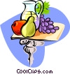fruit and wine Vector Clipart illustration