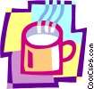 Vector Clip Art image  of a coffee mug
