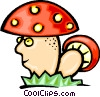 Vector Clipart illustration  of a Mushrooms