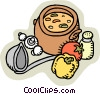 Vector Clipart illustration  of a homemade soup