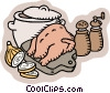 chicken soup preparations Vector Clipart image