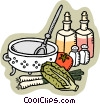 Vector Clipart picture  of a oil and vinegar salad
