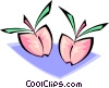 Vector Clipart illustration  of a peaches