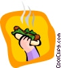 Vector Clipart picture  of a hotdog