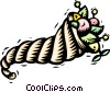 Vector Clipart image  of a horn of plenty