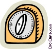Vector Clip Art graphic  of a kitchen timer