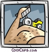 Vector Clipart image  of a dump truck
