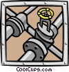 Vector Clipart graphic  of a pipe system