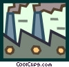 Vector Clip Art image  of a smokestacks