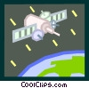 satellite in space Vector Clip Art picture