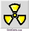radiation symbol Vector Clip Art graphic