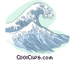 Vector Clipart image  of a waves