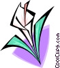 Vector Clipart graphic  of a orchid