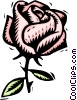 Vector Clip Art image  of a rose