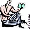 Vector Clipart image  of a reading