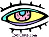Vector Clip Art picture  of a eye