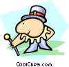 Vector Clipart image  of a entertainer