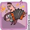 Vector Clipart graphic  of a music