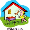 bar-b-que Vector Clipart picture