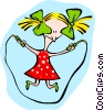Vector Clip Art image  of a skipping