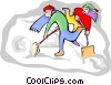 shoveling snow Vector Clip Art picture