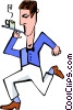 waiter Vector Clip Art picture