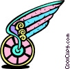 Vector Clipart picture  of a winged travel