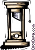 Vector Clip Art graphic  of a guillotine