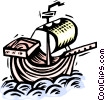 Christopher Columbus' ship Vector Clipart picture