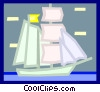 Vector Clipart graphic  of a tall ships
