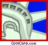 Vector Clip Art graphic  of a the Statue of Liberty