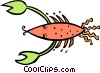 Vector Clipart picture  of a crustacean