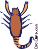 Vector Clip Art picture  of a crustacean
