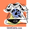 telephone concept Vector Clipart graphic