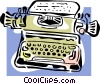 Vector Clip Art image  of a typewriter concept