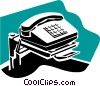 Vector Clip Art picture  of a telephone concept
