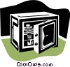 Vector Clip Art image  of a safe