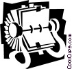 Vector Clipart graphic  of a rolodex concept