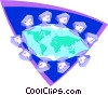 Vector Clipart illustration  of a computer communications
