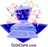 Vector Clip Art picture  of a computer communications