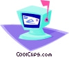 Vector Clipart graphic  of a E-mail computer concept