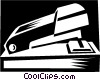 Vector Clip Art graphic  of a stapler concept