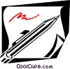 pencil concept Vector Clipart image