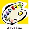 Vector Clip Art graphic  of a palette
